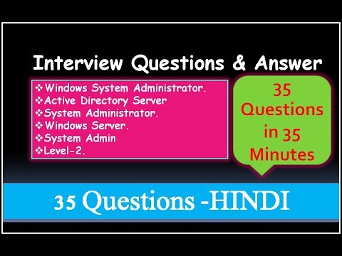 Interview Questions & Answer For Windows System Administrator, Active Directory, Windows Server