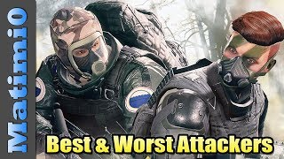 Best & Worst Attacking Operators - Rainbow Six Siege - Year 3