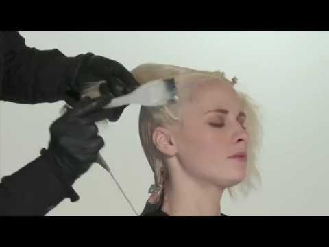 Переливающийся жемчужный блонд   видео урок по креативному салонному окрашиванию