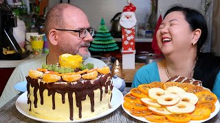 Мукбанг Шоколадный Торт Анекдоты от зрителей Mukbang Chocolate Cake