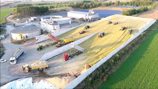 Big Corn Silage Smrzice 2016 2x snowmobile Schneemobill Czech Republic
