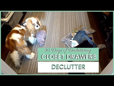 Chores, Shopping & Closet Drawer Declutter | 30 Days of Decluttering