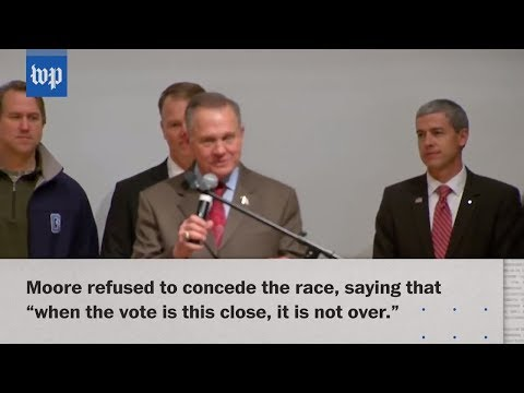Jones wins U.S. Senate seat in Alabama; Moore refuses to concede