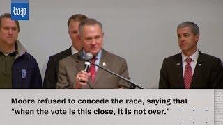 connectYoutube - Jones wins U.S. Senate seat in Alabama; Moore refuses to concede