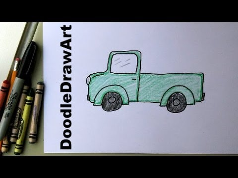 How To Draw A Truck Easy Drawing Lesson For Kids Art Tutorial