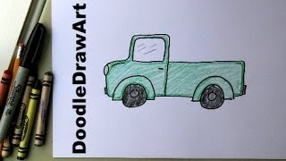 How To Draw a Truck!  Easy Drawing Lesson for Kids!  Art Tutorial