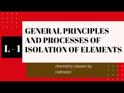 Download ll  GENERAL PRINCIPLES AND PROCESSES OF ISOLATION OF ELEMENTS ll PLUS TWO CHEMISTRY l CHAPTER 6 l