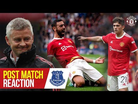 Fernandes, James & Solskjaer looking forward to season start after Everton win | Post Match Reaction
