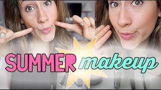 SEE ME WITH NO MAKEUP ON!?! SWEAT PROOF SUMMER MAKEUP TUTORIAL (TALK THRU)  | itsLyndsayRae Thumbnail