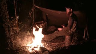 3 Days Solo Bushcraft - Crafting a Wooden Pack Frame