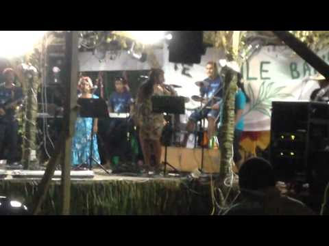 Tuvalu's Temaile Band perfoming a South African song LIVE