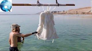 Chiếc váy bị ngâm dưới Biển Chết, 2 năm sau bỗng trở thành tuyệt tác pha lê lấp lánh