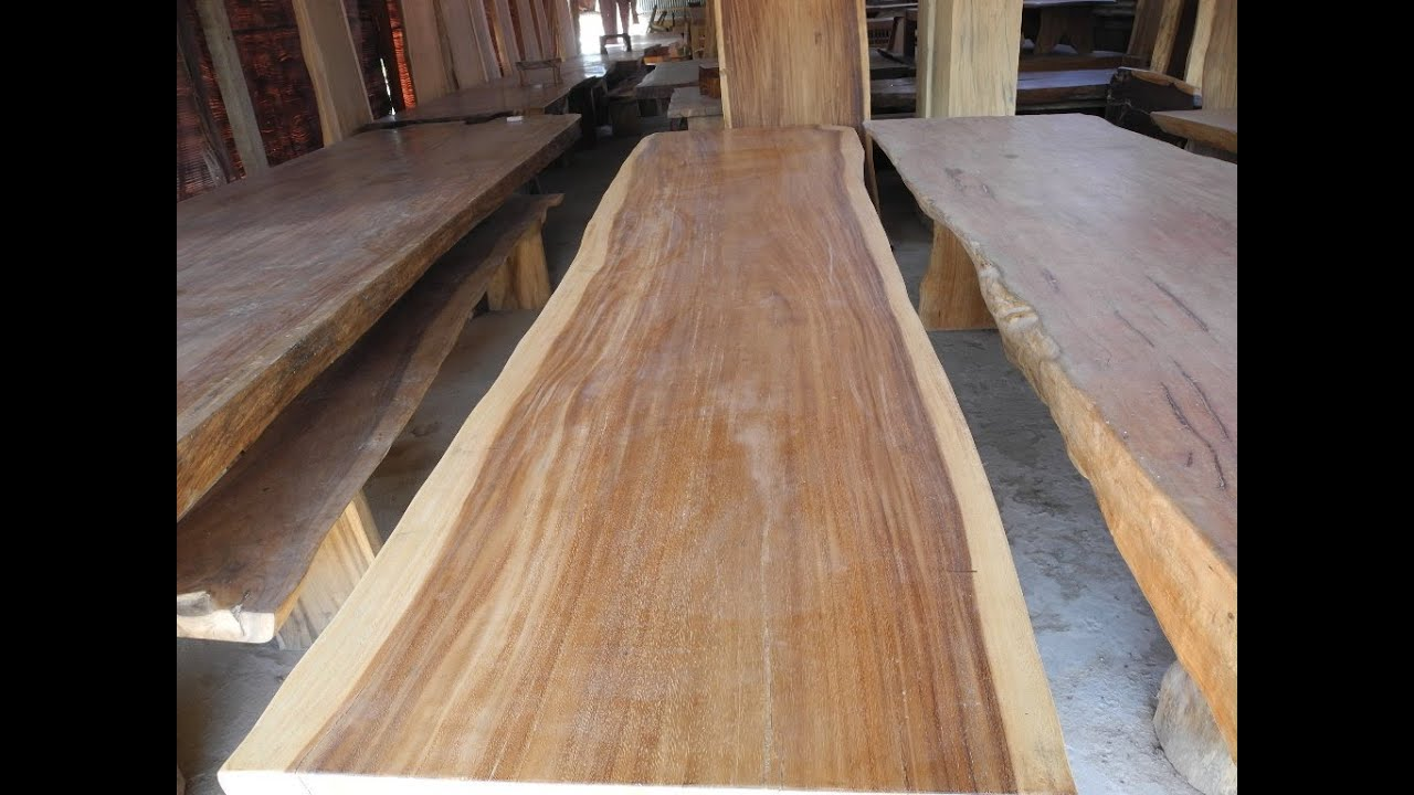 Wood Slab Dining Table   YouTube