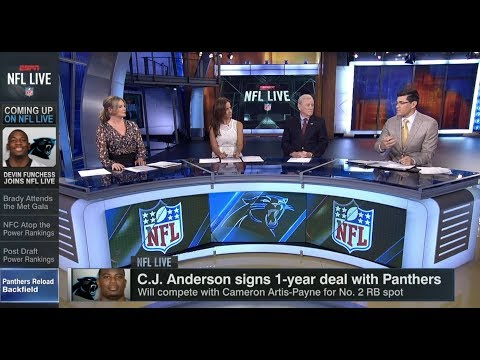 C. J. Anderson Signs 1-year Deal With Panthers | NFL Live | May 8, 2018