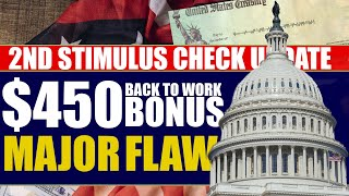 Second Stimulus Check Update and Stimulus Package Thursday May 28th: $450 Back to Work Bonus FLAW