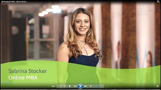 Meet EBS MBA graduate Sabrina Stocker, who studied by online learning.
