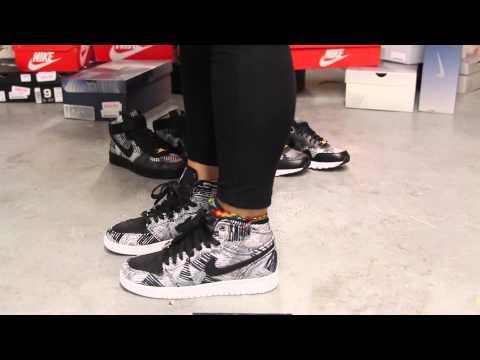 "Ladies Air Jordan 1 Retro High BHM ""White/Black"" On-feet Video At Exclucity"