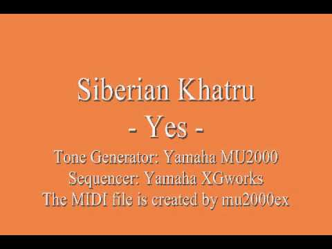 Siberian Khatru - Yes (cover) / MIDI version