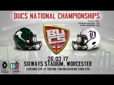 LIVE British American Football - BUCS National Championships From Sixways Stadium