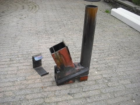 Rocket Stove Heater On Steroids Part 2 Youtube