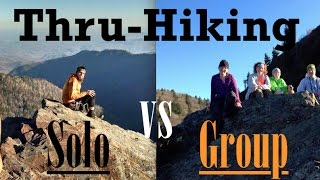 Thru-Hiking Solo vs wİth a Group