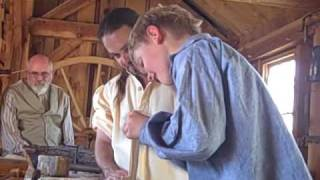 This Is The Place Heritage Park's  Master Woodworker Aaron Mc Donald Teaches Young Apprentice