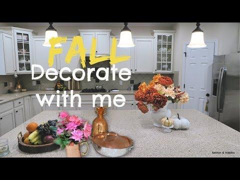 FALL DECOR HAUL + DECORATE WITH ME #fall #falldecor #hometour 2019 /Kenton & Habiba
