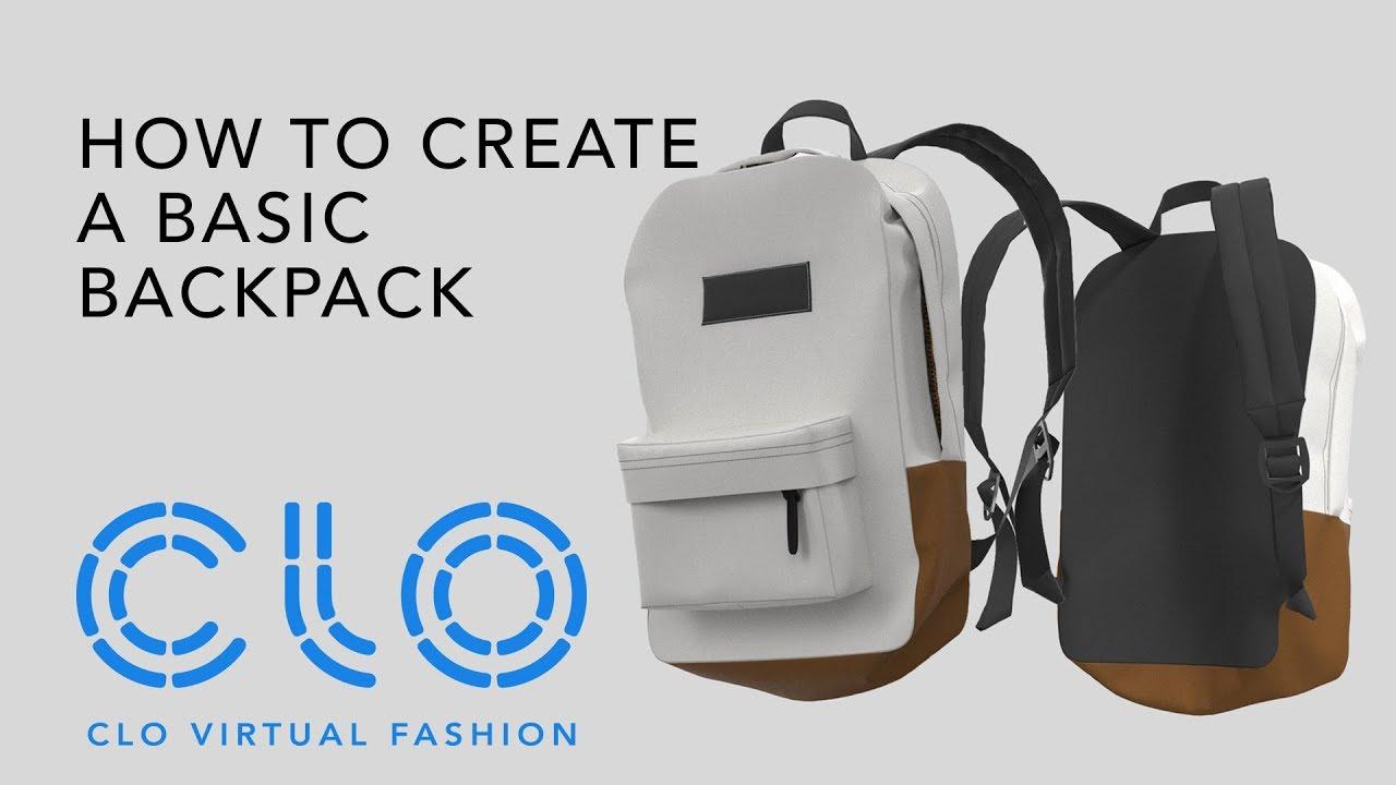 Clo Virtual Fashion How To Create A Basic Backpack Youtube