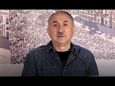 Hablan los líderes nacionales de CC OO y UGT, Unai Sordo y Pepe Álvarez