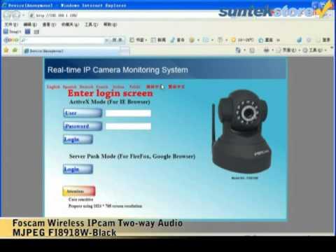 SuntekStore: Genuine Foscam IP Camera FI8918W