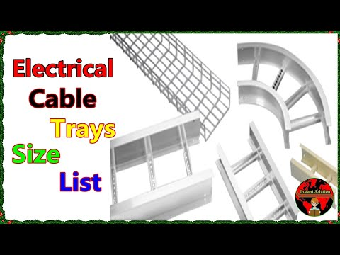 All Electrical Cable Tray Sizes And Types Size of Cable Tray Chart In English