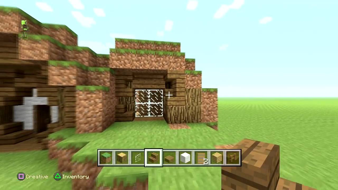 How To Build A Hobbit House Minecraft How To Make A Hobbit Hole Tutorial Hobbit House