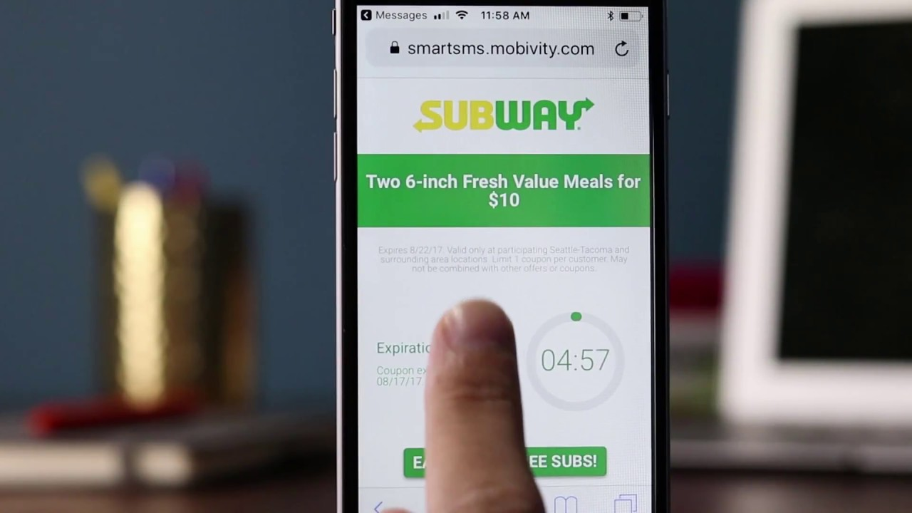 Mobile Marketing Strategies | Subway Timed Mobile Coupons