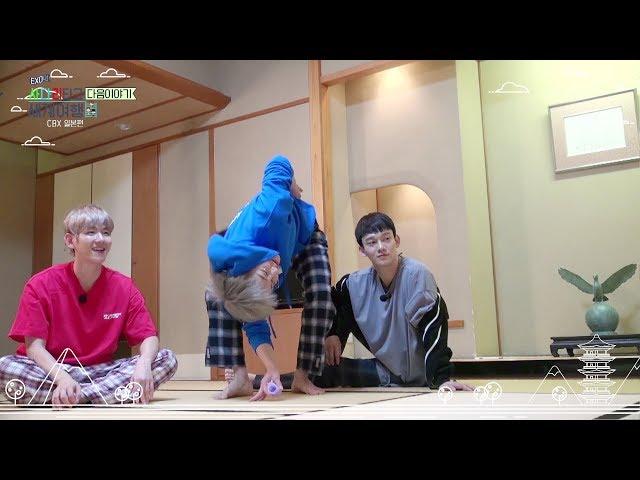 [EXO의 사다리 타고 세계여행 – 첸백시 일본편] 저녁 복불복 제작진을 이겨라