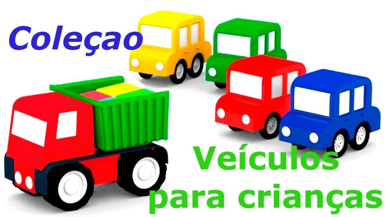 4 Carros Coloridos Veículos Para Crianças Coleçao