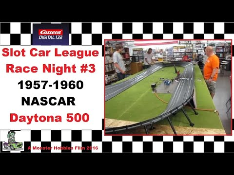 Carrera Slot Car 1957-1960 NASCAR Daytona 500 Race Night #3.