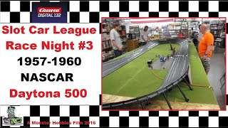 Carrera Slot Car 1957-1960 NASCAR Daytona 500 race night #3.