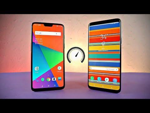 OnePlus 6 vs Samsung Galaxy S9 Plus - Speed Test!