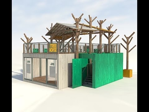 The treehouse whiteley shopping centre a shipping for Structure container maritime