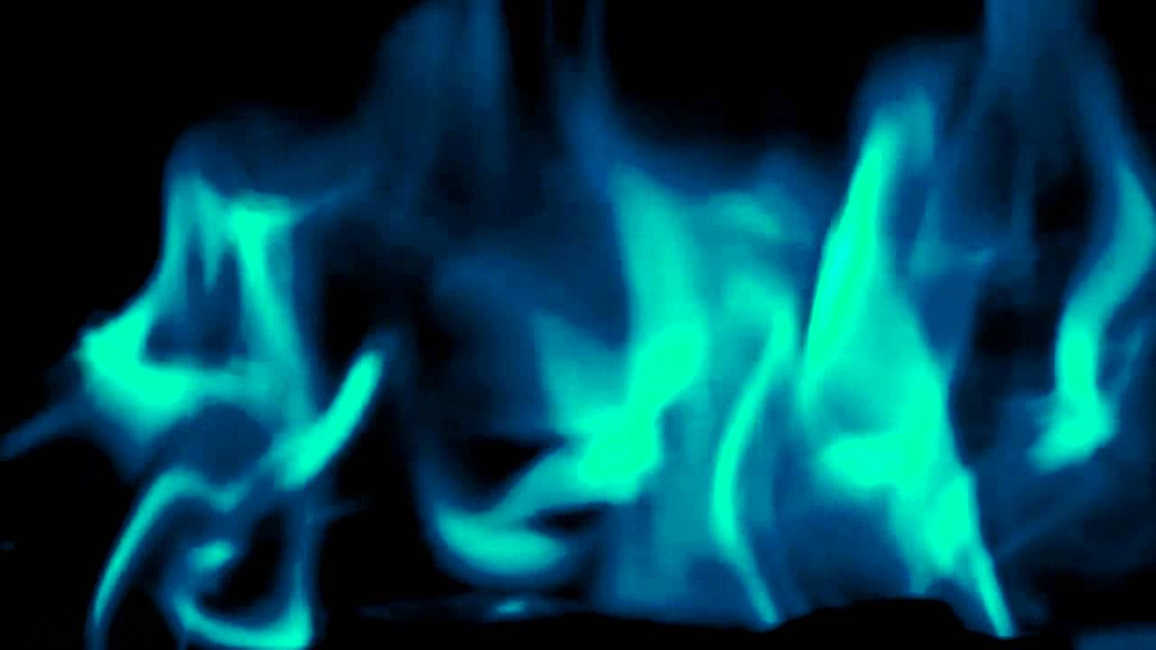 Cool Blue Flames Slow Motion Dark Blurry Background Effect V13852b