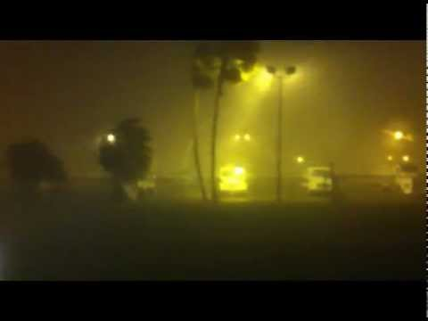 Severe Storm over the express way 83 McAllen-Mission 3/29/2012 (tornadoes can not be seen at night)