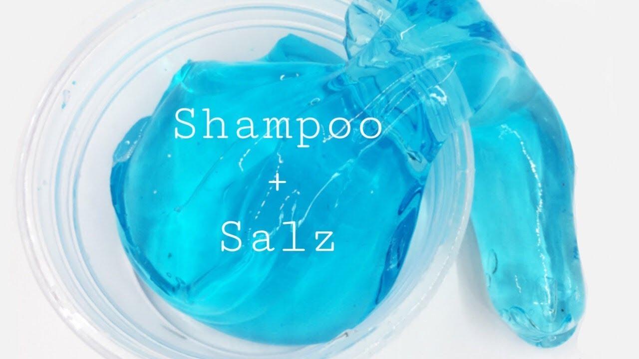 schleim ohne kleber selber machen nur aus shampoo und salz youtube. Black Bedroom Furniture Sets. Home Design Ideas