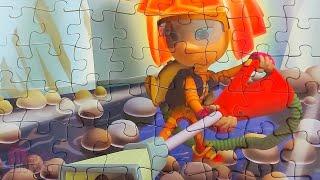 Фиксики - Симка с пылесосом - Собираем пазлы для детей   Merry Nika