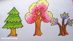 Cara Mewarnai Tanaman Bunga Dan Rumput Dengan Gradasi Crayonoilpastel