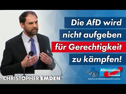 Die AfD wird nicht aufgeben, für Gerechtigkeit zu kämpfen! Christopher Emden, MdL (AfD)