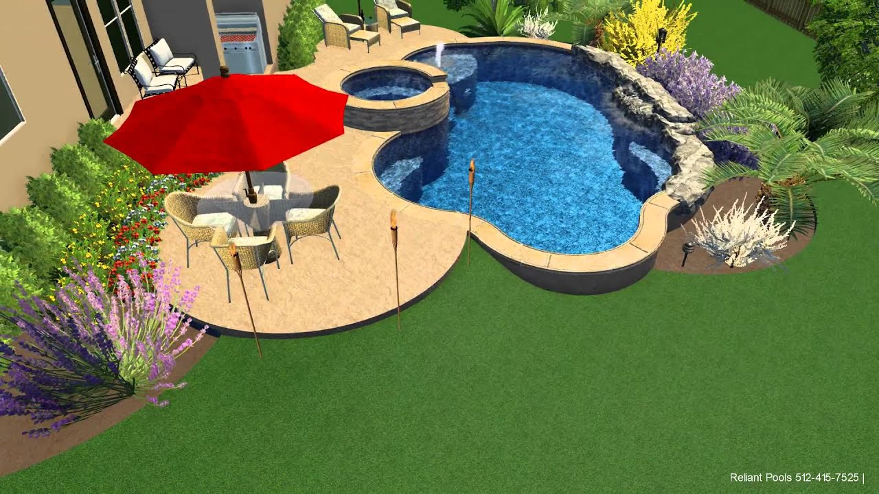 Freeform pool design reliant pools austin tx youtube for Pool design austin