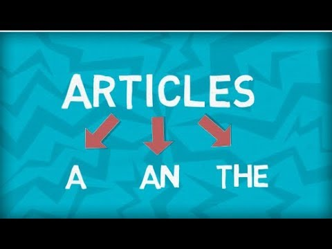 What are Articles | When to use A, An and The | Type of Adjectives - YouTube