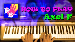 piano busker - How To Play Axel F in F (Slow Tutorial)