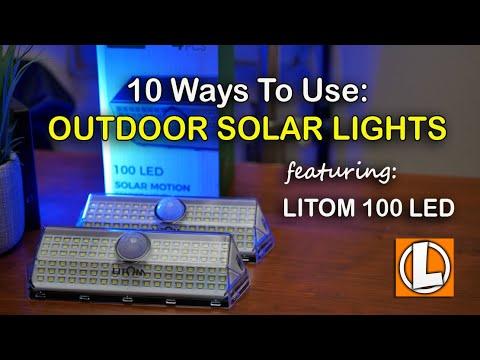 Solar Lights Outdoor 10 Usage Tips – Litom 100 LED Solar Motion Sensor Light