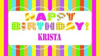 Krista   Wishes & Mensajes - Happy Birthday